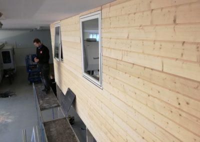 flott kontorlokale blir laget i dette lagerlokalet
